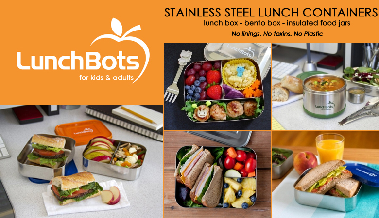 {NEW} LunchBots' Stainless Steel LunchContainers